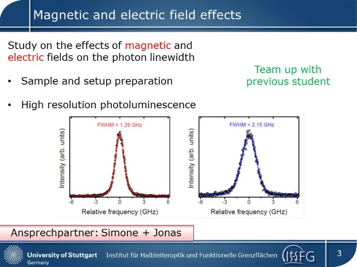 Magnetic and electric field effects (c) IHFG
