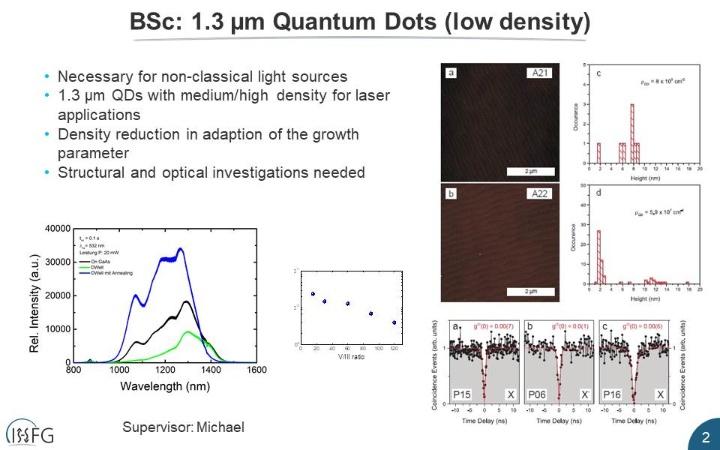 1.3 µm Quantum Dots (low density)