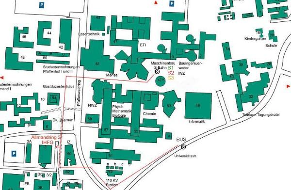 Uni Stuttgart Gebäudeplan